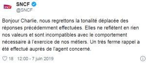 Tweet CM SNCF