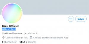 Twitter Dieu Officiel