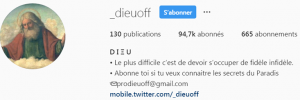 DieuOff est sur Instagram