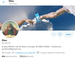 Compte Twitter DieuOff