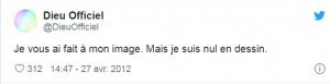 Compte twitter @DieuOfficiel