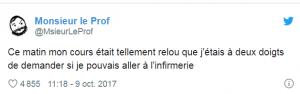 MonsieurLeProf tweete sur lui même