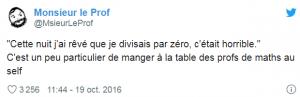 MonsieurLeProf tweete sur ses collègues